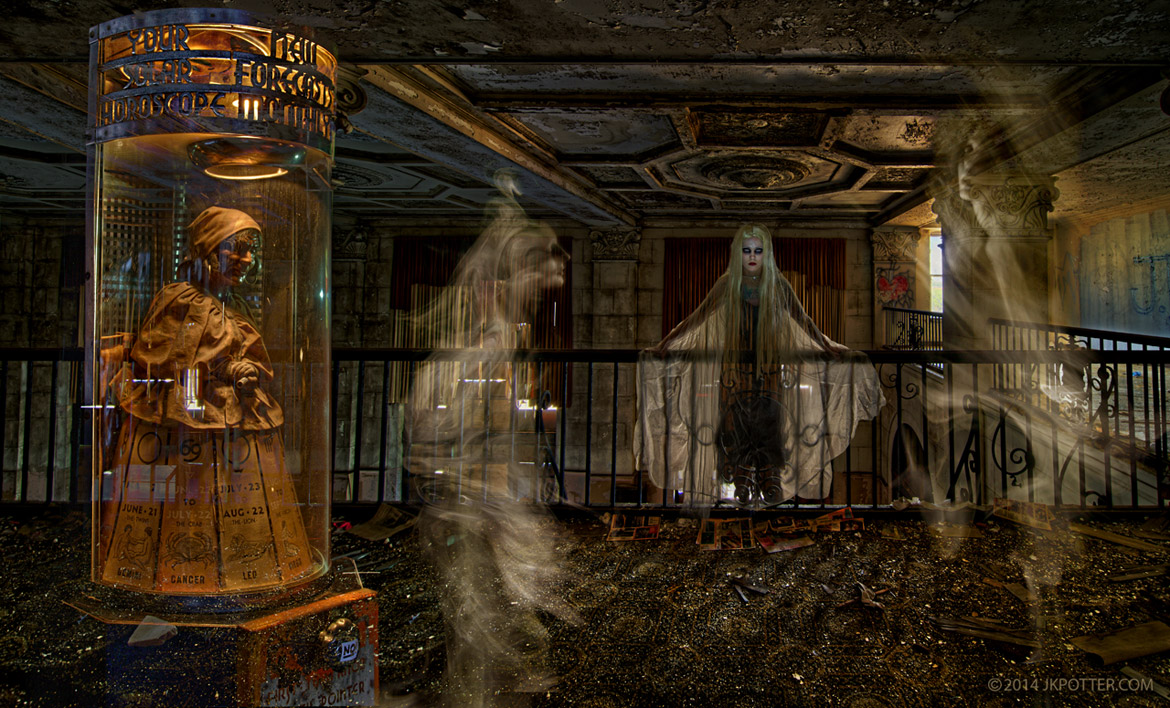 Ghost, Hotel Grim, JK Potter, Horror, weird, creepy, supernatural, strange, haunted, bizarre, grotesque