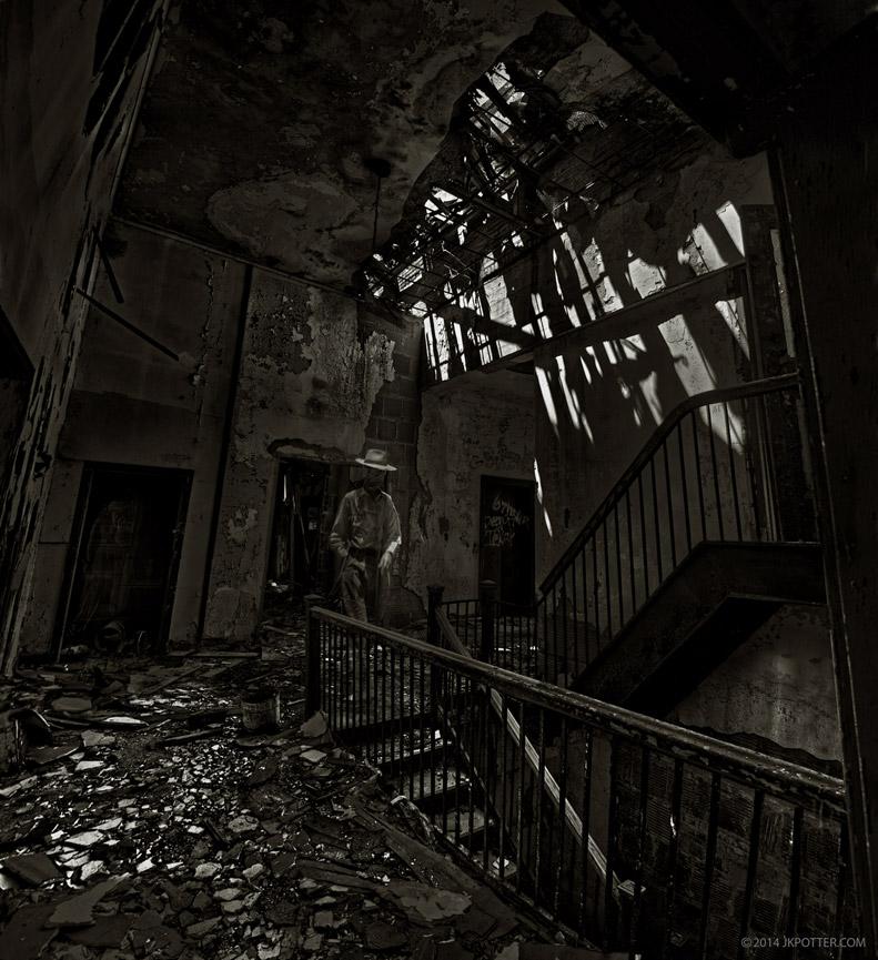 Ghost, Hotel Grim, JK Potter, Horror, weird, creepy, supernatural, strange, haunted, bizarre, grotesque