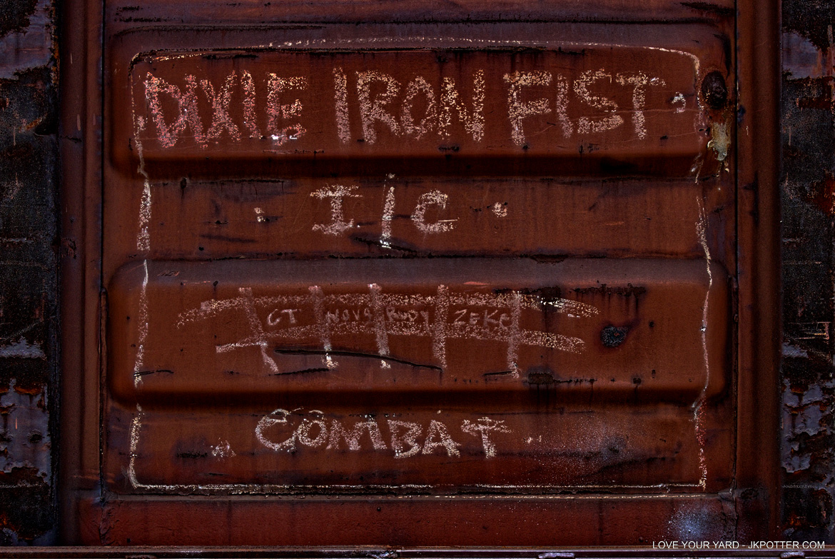 dixie iron fist, tags, graffiti, boxcar, train, boxcar tags, railroad graffiti, freight train graffiti, rail art, rail graffiti, boxcar, freight, moniker