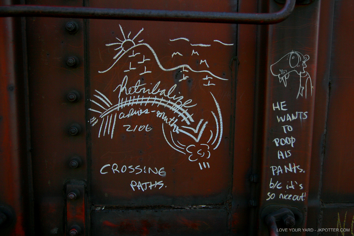 retribalize, tags, graffiti, boxcar, train, boxcar tags, railroad graffiti, freight train graffiti, rail art, rail graffiti, boxcar, freight, moniker