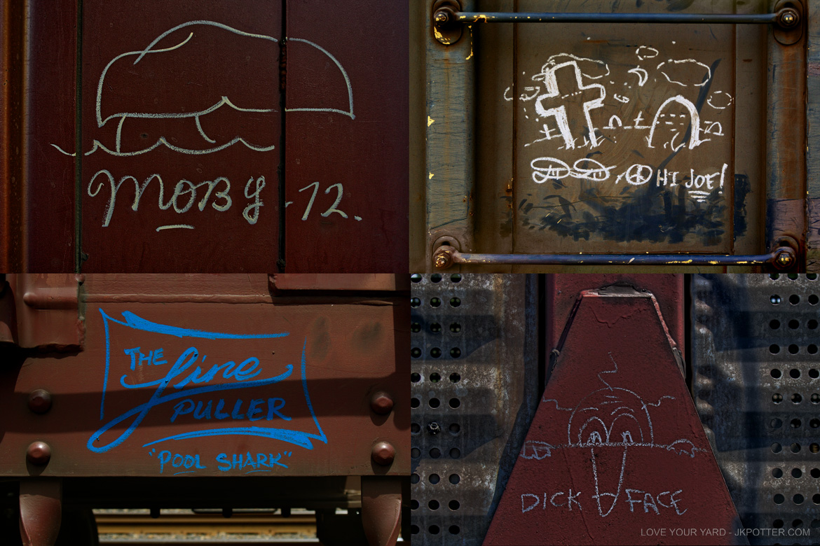moby, the line puller, tags, graffiti, boxcar, train, boxcar tags, railroad graffiti, freight train graffiti, rail art, rail graffiti, boxcar, freight, moniker, dick face
