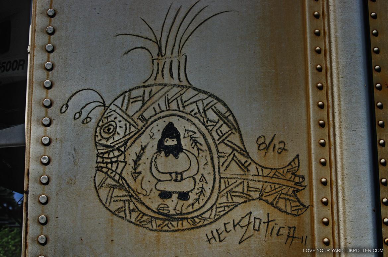 heckzotica, tags, graffiti, boxcar, train, boxcar tags, railroad graffiti, freight train graffiti, rail art, rail graffiti, boxcar, freight, moniker
